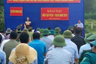 HKL VQG Phong Nha – Kẻ Bàng tham gia diễn tập Phòng cháy, chữa cháy rừng năm 2018